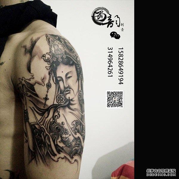 攀枝花最实惠最好的纹身店蜀韵刺青男生大臂佛图片